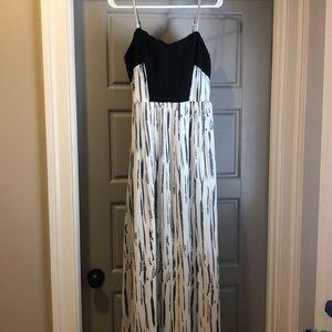 Maxi white and black dress